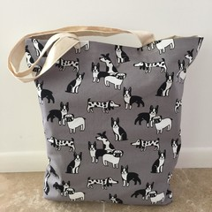 Tote Bag in Dog Prints MADE TO ORDER Day Bag for your Doggy! BEACH PARK FUN!