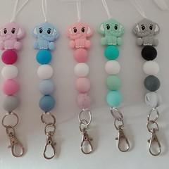 Elephant silicone bead lanyards