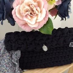 Black elegant clutch