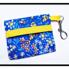Busy Bees Face Mask Carry Pouch