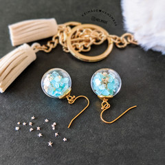 Summer Bauble Drop Earrings - Handmade kawaii beach