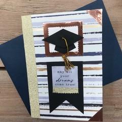 Graduation card - grad hat tassle dreams