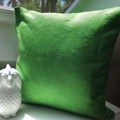 A Set of 2 Green Ottoman weave coushion covers