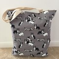 Tote Bag in Dog Prints Day Bag for your Doggy! BEACH PARK FUN!