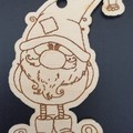 Christmas Gnomes Set A x 5 Gnomes - each side engraved. FREE Shipping