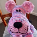 Layla: hand crocheted lion cub by CuddleCorner: OOAK, washable, pinks/purples