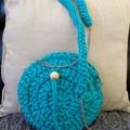 Boho round crossbody bag