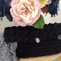 Black elegant clutch