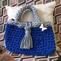 Blue & grey handbag