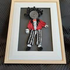 Golliwog, Golly, Paper Quill Picture, Frame,