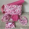Dolls Nappy bag set, Hello Kitty print, girls gift