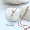 Rose Gold necklace with Crystal Pendant - Rose Quartz, Howlite or Morganite