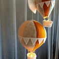 Nightlight Air Balloon Large Blue/ Peach/ Mustard