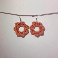 The Sun Earrings - Orange