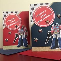 Transformers Birthday Card - Age