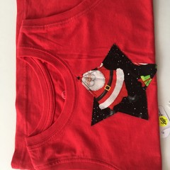 "Size 3 - ""Jolly Santa"" Shorts  and SInglet"