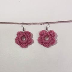 Basic flower earrings - Dusty pink