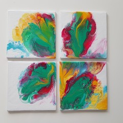 Hand Painted Coasters 4 Set