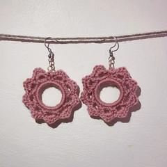 The Sun Earrings - Dusty pink