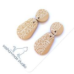 Gold Drop Statement Earrings -Memphis Pear
