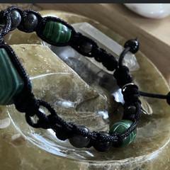 Malachite & Larvakite Bracelet