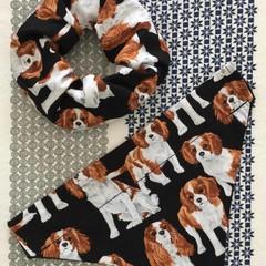 MADE TO ORDER Scrunchie to match Doggy Bandana Cavalier Australian Flag