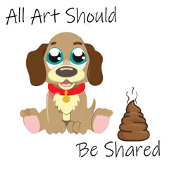 All Art Should Be Shared Art Board Print