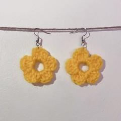 Basic flower earrings - Yellow