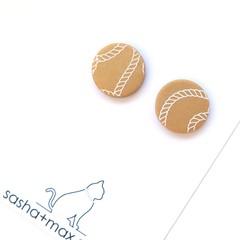 Gold Stud single pair  earrings