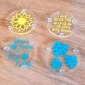 Acrylic coasters set of 2