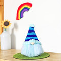 Cute Gnome with Blue Stripey Hat