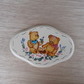 Two Teddy Bear Plaque with Roses