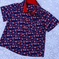Christmas Sharks  Button up Shirt