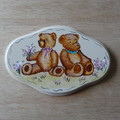 Two Teddy Bear Plaque