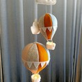 Nightlight Air Balloon Large Blue/ Peach/ Mustard