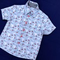 Christmas Planes Button Front Shirt