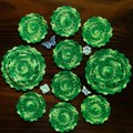 'Lemon and Lime' Two Doilies and Eight Coasters - Entertainers Set