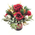 Red & Gold Christmas Flower Arrangement - Christmas Gift - Christmas Flowers