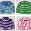 Crocheted baby hats - Newborn