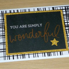 You are simply wonderful - thank you  or teacher card