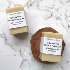 Clearance Sale: Bar Soap - Shea Butter Rose Geranium | for all skin type