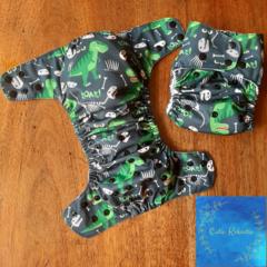 Reusable Cloth Nappy - Roarsome Dinosaurs