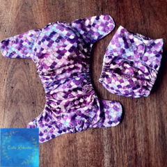 Reusable Cloth Nappy - Mermaid Scales in Purple