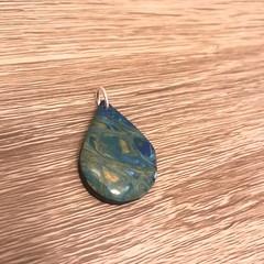 Blue resin pendant/charm