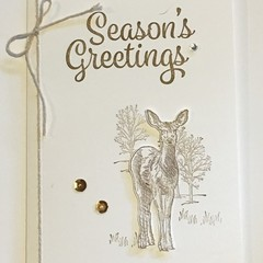 Christmas Handmade Card  - season greeting