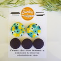 Yellow & Black Splotch Flat Magnet Set