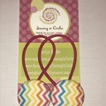 Rainbow zigzag hair ties
