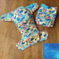 Reusable Cloth Nappy - Australiana Fauna in Yellow