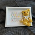 Baby Shower gift, Teddy bear,  Frame, new baby