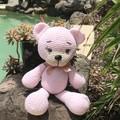 Crochet Amigurumi Pink Teddy